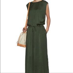 Vince sleeveless hunter green soft maxi dress- XS